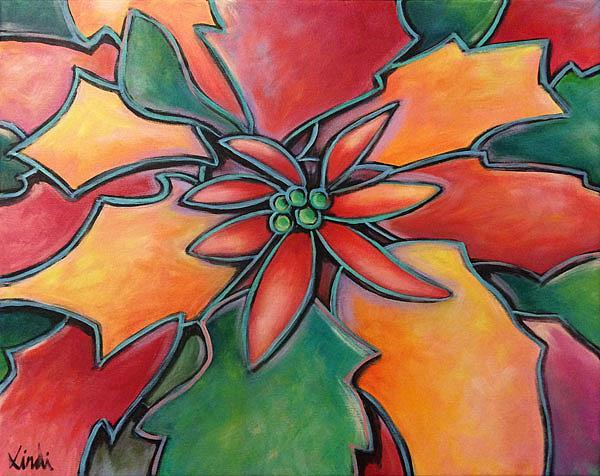 Art: Flor De Pascua by Artist Lindi Levison
