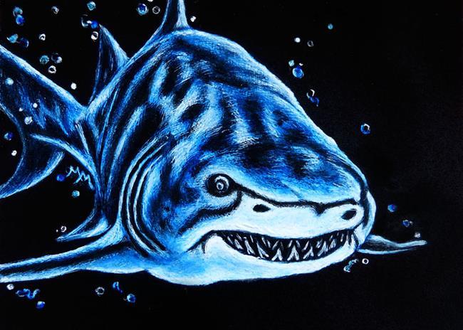 Art: Shark - SA104  (SOLD) by Artist Monique Morin Matson
