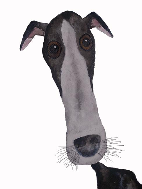 Art: GREYHOUND d101 by Artist Dawn Barker