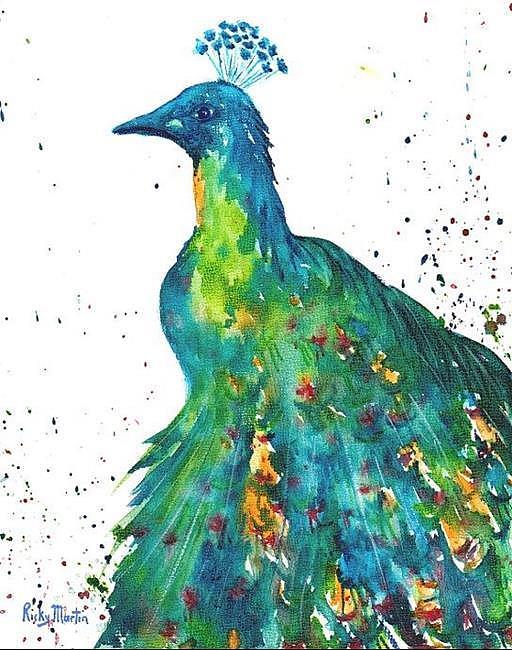 Art: Peacock  - sold by Artist Ulrike 'Ricky' Martin