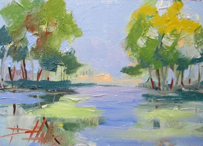 Art: Spring Reflection by Artist Delilah Smith
