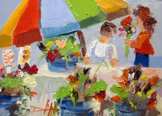 Art: Flower Market-sold by Artist Delilah Smith