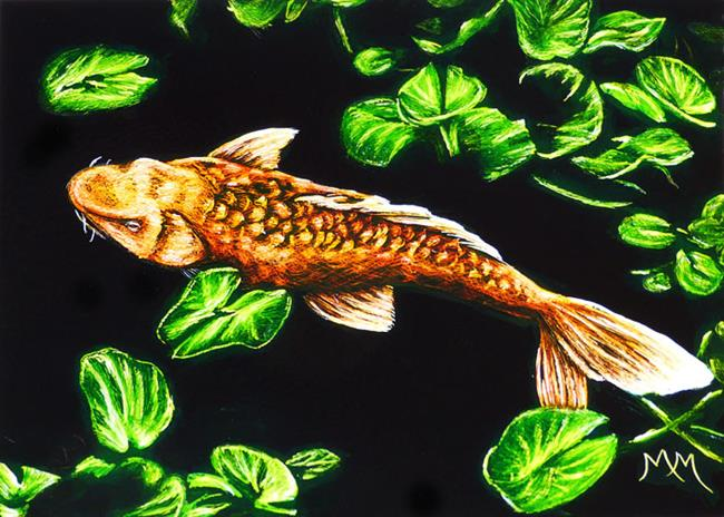 Art: Koi - SA107  (SOLD) by Artist Monique Morin Matson