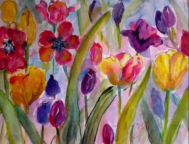 Art: Tulips by Artist Delilah Smith