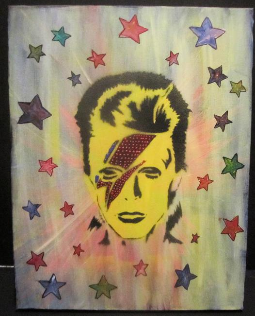 Art: Star Man David Bowie by Artist Paul Lake, Lucky Studios