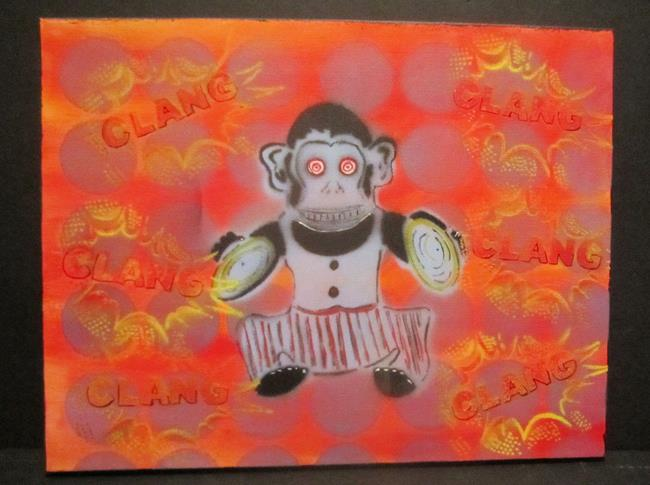 Art: Clang, Clang Monkey by Artist Paul Lake, Lucky Studios