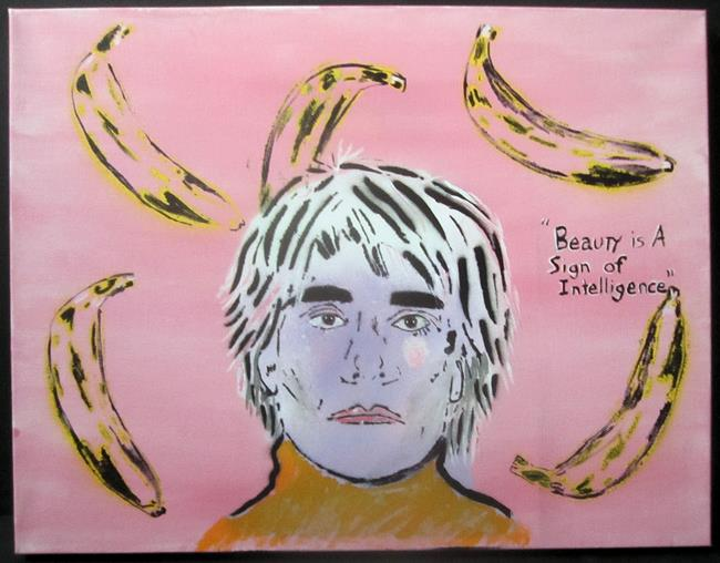 Art: Andy Warhol, Bananas Pop Graffiti Painting by Artist Paul Lake, Lucky Studios