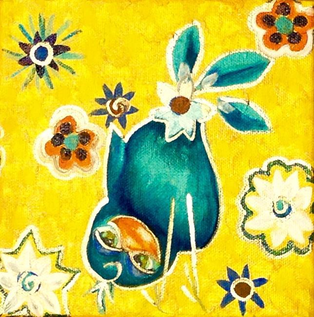 Art: Flutter Flirts Blu Bert by Artist Alma Lee