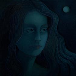 Art: Moonshadow by Artist Elizabeth Fiedel