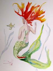 Art: Mermaid 6 by Artist Delilah Smith