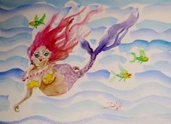 Art: Mermaid 7 by Artist Delilah Smith
