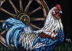 Art: Rooster - SA109  (SOLD) by Artist Monique Morin Matson