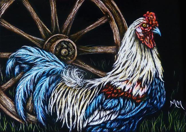 Art: Rooster - SA109  (SOLD) by Artist Monique Morin Matson