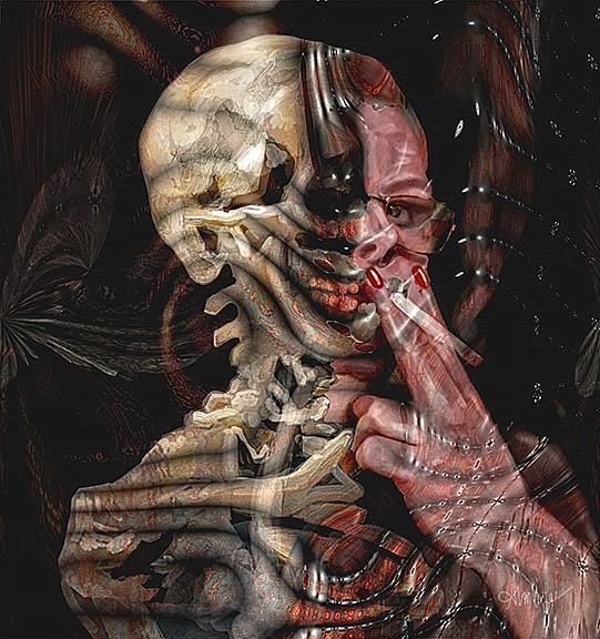 Art: Die Trying by Artist Alma Lee