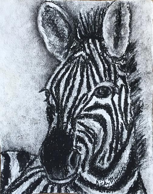 Art: Zebra Portrait by Artist Ulrike 'Ricky' Martin