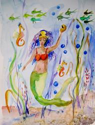Art: Mermaid No.9 by Artist Delilah Smith