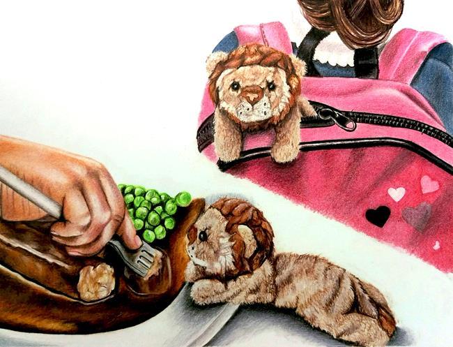 Art: BABY LION by Artist Kate Challinor