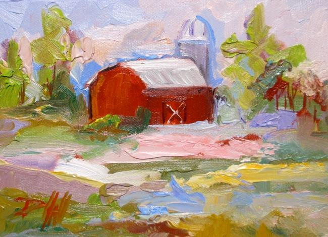 Art: Landscape and Barn by Artist Delilah Smith