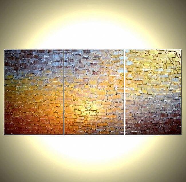 Art: PATH-TO-GOLD 3canv.jpg by Artist Daniel J Lafferty