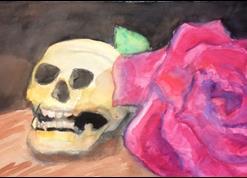 Art: Found Vanitas by Artist Amie R Gillingham