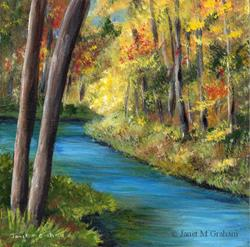Art: Fall River by Artist Janet M Graham