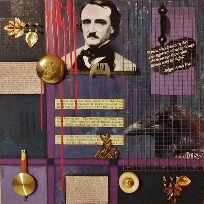 Art: Poe (SOLD) by Artist Vicky Helms