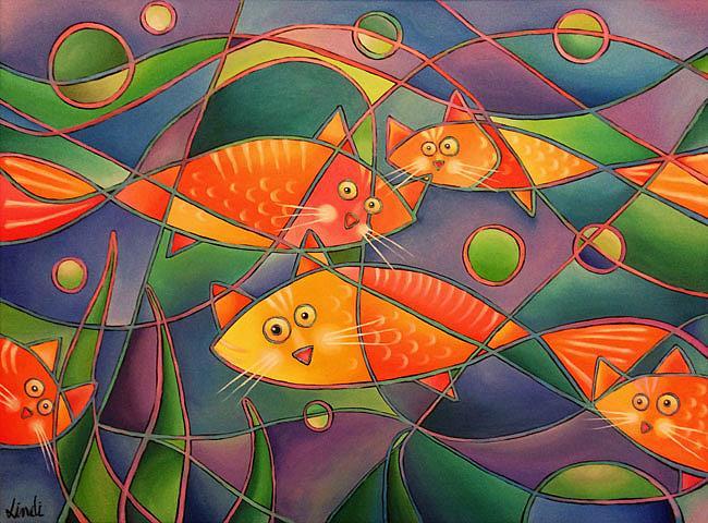 Art: Catfish by Artist Lindi Levison