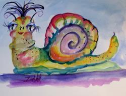 Art: Snail No. 3 by Artist Delilah Smith