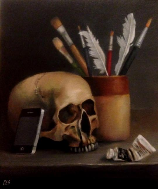 Art: Selfies Killed the Portrait Painter by Artist Christine E. S. Code ~CES~