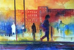 Art: street scene by Artist Alessandro Andreuccetti