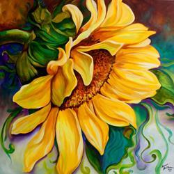 Art: SUNFLOWER SUNSHINE by Artist Marcia Baldwin