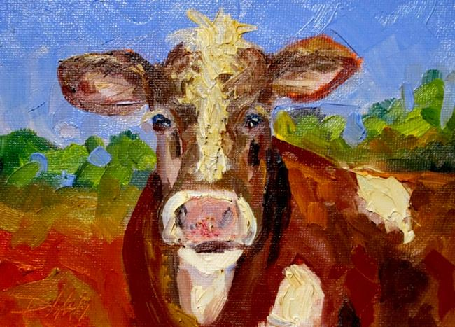 Art: Farm Cow by Artist Delilah Smith