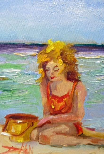 Art: Summer Beaches by Artist Delilah Smith