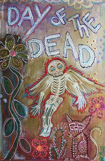Art: Day of the Dead - Ascension by Artist Laura Barbosa
