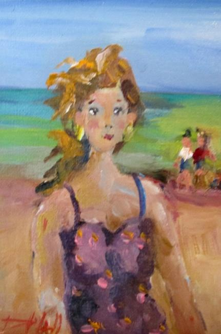 Art: Beach Girl by Artist Delilah Smith