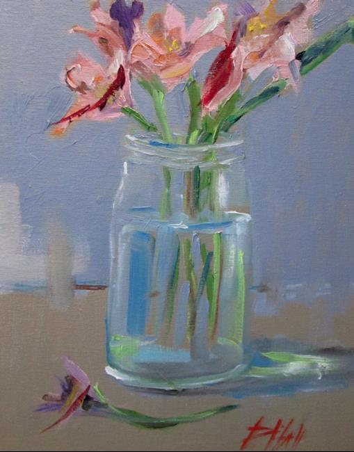 Art: Jar of Flowers by Artist Delilah Smith