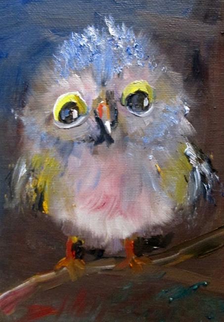 Art: Fuzzy Owl by Artist Delilah Smith