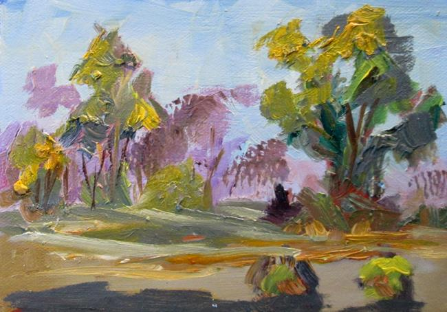 Art: Painterly Landscape by Artist Delilah Smith