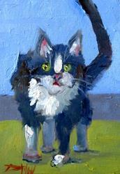 Art: B W Cat by Artist Delilah Smith