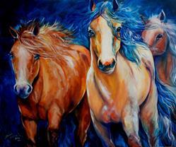 Art: MUSTANG RUN 3630 by Artist Marcia Baldwin