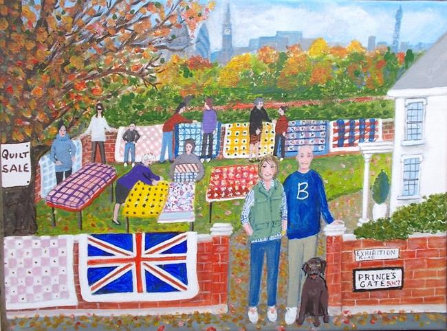 Art: London Quilt Sale (Commission) by Artist Fran Caldwell