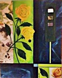 Art: Yellow Roses by Artist Vicky Helms