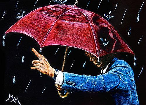 Art: Rainy Days - SA111  (SOLD) by Artist Monique Morin Matson