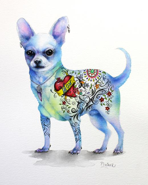 Art: Tattoo Chihuahua by Artist Patricia Lintner