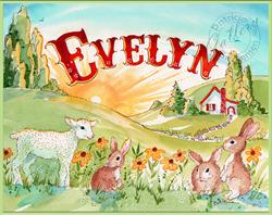 Art: Evelyn ~ Baby Nursery Art ~ Sold by Artist Patricia  Lee Christensen