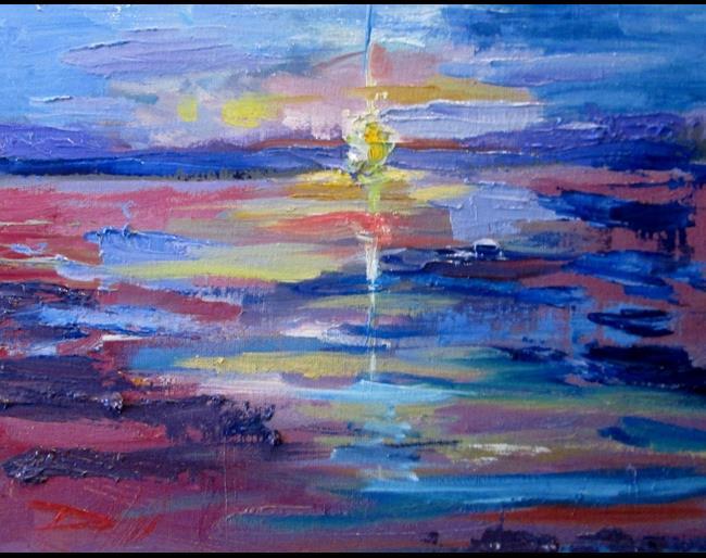 Art: Sunset Coast by Artist Delilah Smith