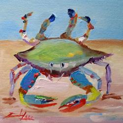 Art: Blue Crab by Artist Delilah Smith