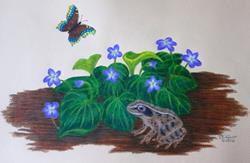 Art: Spring Morning by Artist Jackie K. Hixon