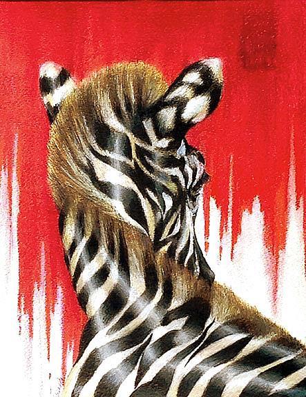 Art: The Zebra by Artist Alma Lee