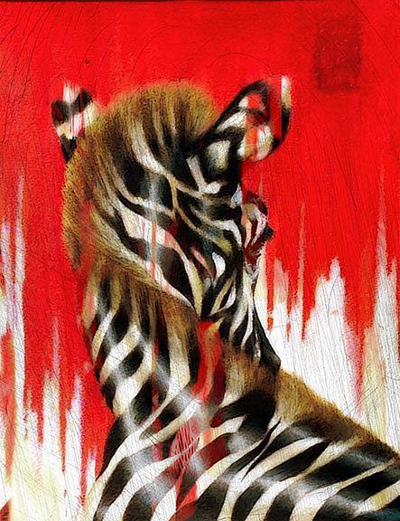 Art: Zebra II by Artist Alma Lee